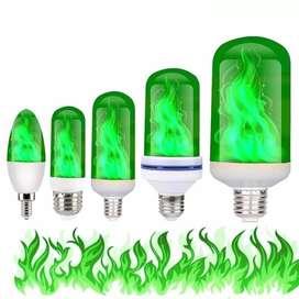 Foco Led Llama Verde E27 9W 62x152MM
