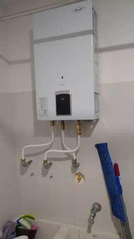 Instalación a calentadores a gas