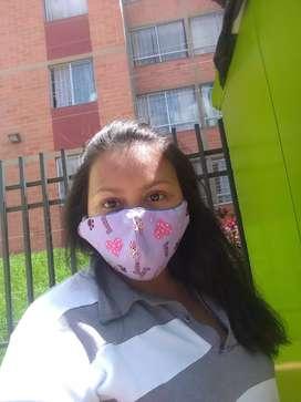 Busco trabajo como niñera o servicios generales. Tengo disponibilidad de tiempo, en cualquier parte de Bogotá