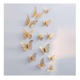 Pegatina De Pared De Mariposa Hueca 3d Para Decoración