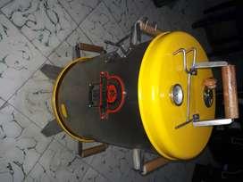 Asador ahumador barril marca barrililazo adn  65 x 30cm acero inoxidable