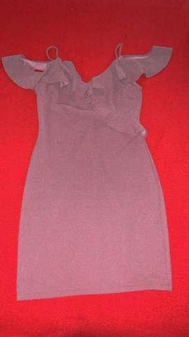 Vestido violet escarchado