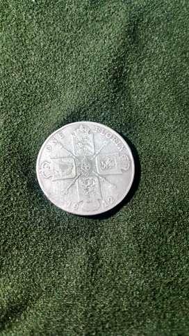 Moneda Gran Bretaña 1 Florin 1912 Mb