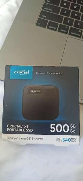 Disco externo SSD CRUCIAL X6 500GB