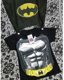 Remera Capa Batman Capitan America Hulk
