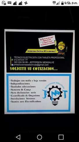 Electricista con tarjeta profesional