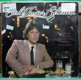 Disco vinilo Carlos Javier Beltran coleccion de amor