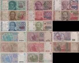 Australes billetes de reposicion