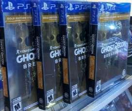 Ghost Recon Breakpoint Gold Edition Steelbook Ps4 Nuevo Sellado Stock