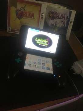Nintendo 2ds Xl Negro- Turquesa Flaseada