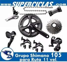 grupo shimano 105 11 velocidades para ruta
