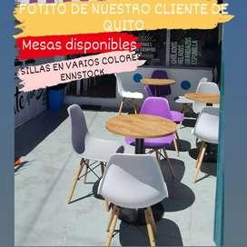 Silla y Mesa Para Restaurante Heladeria Comedor Spa