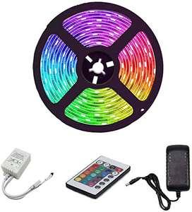 Cinta Led 5050 Rgb Multicolor Con Adaptador Y Control X 5m
