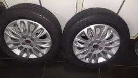 2 ruedas completas nuevas, con llanta de aleación. 185/60/15