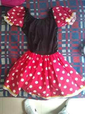 Disfraz para niña de 4 a 5 años de Minnie mouse