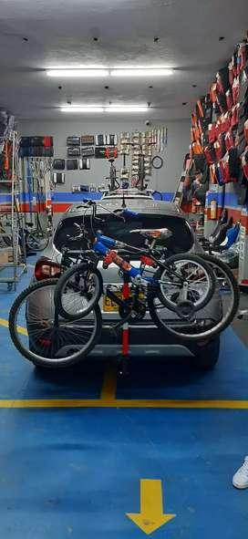 Portabicicletas T7A.co liviano y resistente de tiro de arrastre para 3 bicicletas