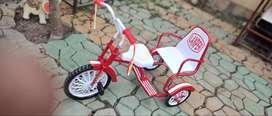 Triciclo antiguo de colección de los años 70,  marca Lanper, para niños