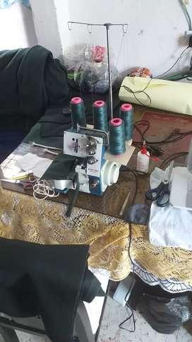 Maquina de coser fileteadora domestica