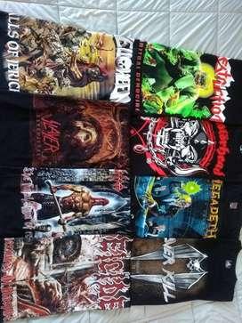 Camisetas de rock punk heavy metal y más...