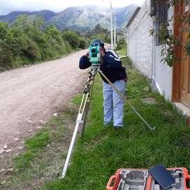 Trabajos de topografia planimetrias, vias, planos de construccion, alquiler de equipos