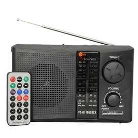 Radio Parlante Portatil Recargable AM/FM/SW Con Control Remoto