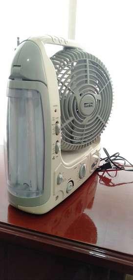 Ventilador-radio-linterna