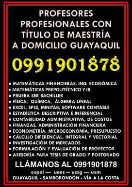 CLASES DE MATEMÁTICAS, ESTADÍSTICA, CONTABILIDAD A DOMICILIO