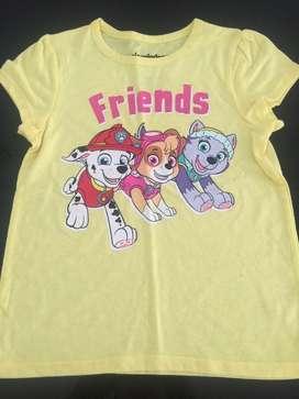 Camiseta para niña talla 4
