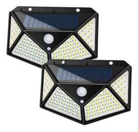 Lampara De Panel Solar Para Exteriores De 100 Led Y Sensor