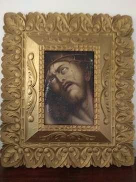 Cuadro Religioso Antiguo Hermoso