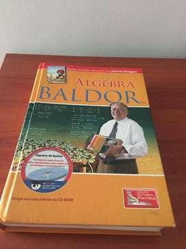 LIBRO ÁLGEBRA DE BALDOR + CD- GRUPO PATRIA