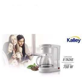 Cafetera kalley 8 tazas 750w. 1.25 litros filtro permanente
