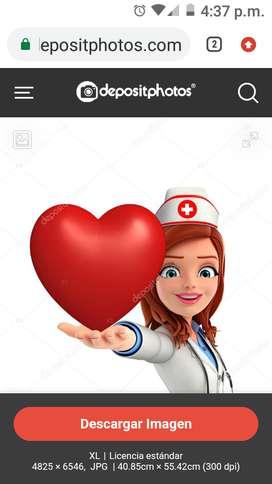 Servicio de Enfermería  ,cuidado de adulto mayor en su domicilio en clínica etc .