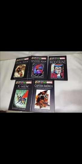 5 Tomos Novelas Gráficas de Marvel