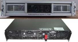 POTENCIA GBR S750x 2400 W 8 OHms modo puente con CROSSOVER