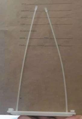 gancho plastico legajador de 18 cm
