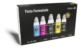 Tinta Formulada Combo X5 Para Impresoras Canon Serie G