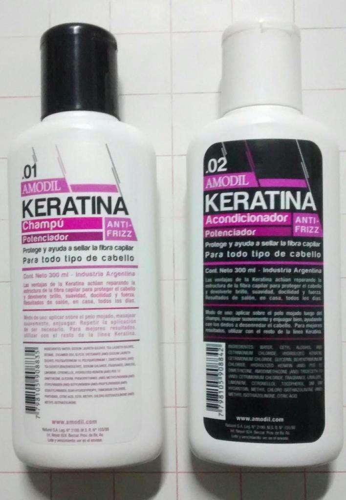 Promoción Champú y Acondicionador Keratina 0