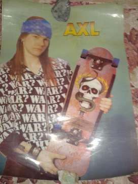 Poster antiguo de cartón AXL ROSE  GUNS AND ROSES 67 x 50 cm