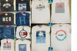 Camisetas marca hollister lacoste tommy Hilfiger talla S M L XL