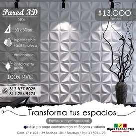 PARED 3D 100% PVC