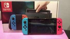 nintendo switch con todos sus accesorios caja original 10/10