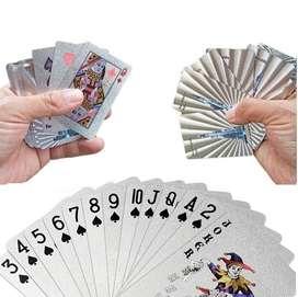 Cartas De Poker  Plateadas Baraja Cartas De Lujo Ultra Fino