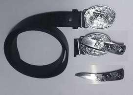 Cinturon Cuchillo Oculto Hebilla Cinto Tactico Defensa