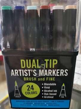 Marcadores Dual-tip a base de alcohol