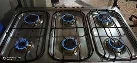 Estufa de 6 puestos con horno
