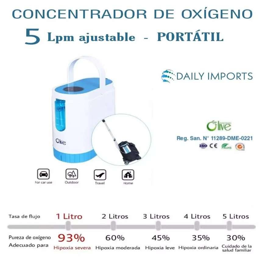 Concentrador de oxígeno PORTÁTIL 5 LPM. IVA incluido