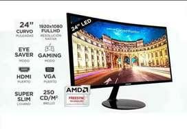 """Monitor  samsung 24"""" CURVO CF390"""