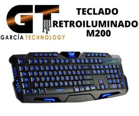TECLADO RETROILUMINADO M200