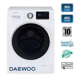 Lavadora y Secadora DAEWOO DWC-90MCW 9KG/6KG Electrodomesticos jared